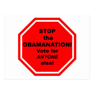 Stop the Obamanation Postcards