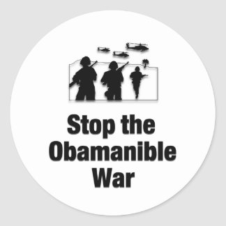 Stop the Obamanible War Stickers