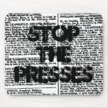"""Stop the Presses"" Mousepad"