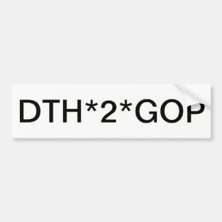 Stop the Republican Grand Old Party Bumper Sticker
