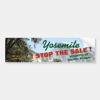STOP THE SALE of YOSEMITE PARK = PUBLIC PROPERTY Bumper Sticker