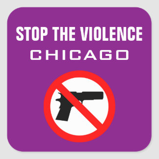 STOP THE VIOLENCE CHICAGO GLOSSY STICKER