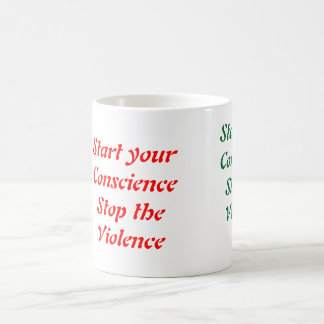 Stop the violence coffee mugs