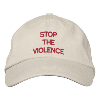 STOP THE VIOLENCE EMBROIDERED HATS