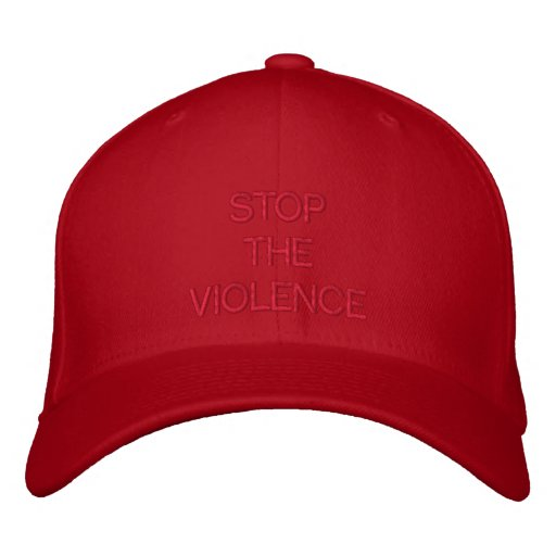 STOP THE VIOLENCE EMBROIDERED BASEBALL CAPS