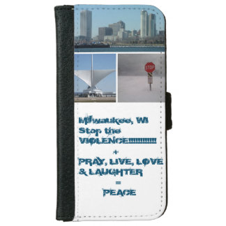 Stop the violence Mill iPhone 6 Wallet Case