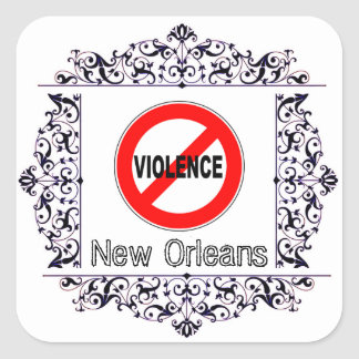 STOP THE VIOLENCE NEW ORLEANS BUMPER STICKER