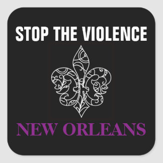 STOP THE VIOLENCE NEW ORLEANS GLOSSY STICKER