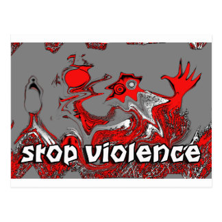 STOP THE VIOLENCE POSTCARD