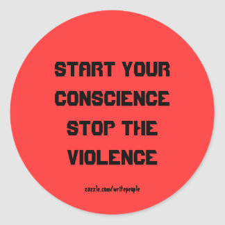 Stop the violence stickers