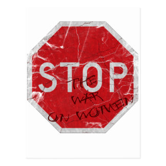 Stop the War on Women Postcard
