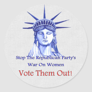 Stop The War On Women Round Stickers