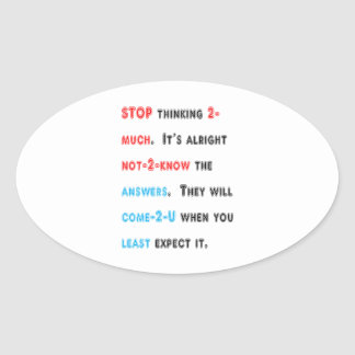 STOP thinking too much: Wishdom Words Display GIFT Stickers