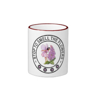 STOP TO SMELL THE FLOWERS RINGER MUG