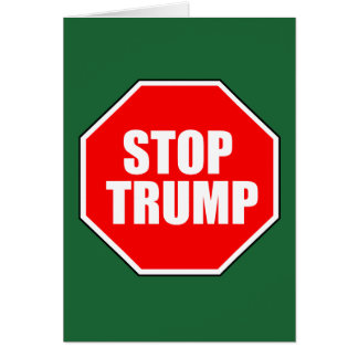 """STOP TRUMP"" CARD"