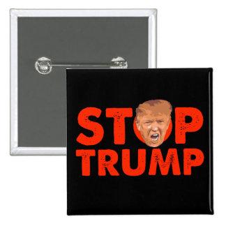Stop Trump - Red Anti Trump Pin Button