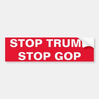 STOP TRUMP, STOP GOP BUMPER STICKER