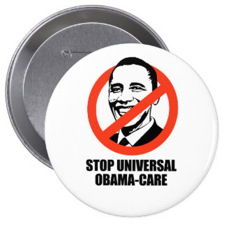 Stop Universal Obama-care 10 Cm Round Badge