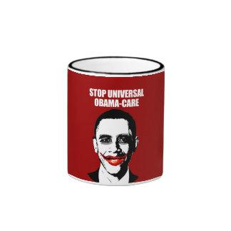 STOP UNIVERSAL OBAMA-CARE RINGER MUG
