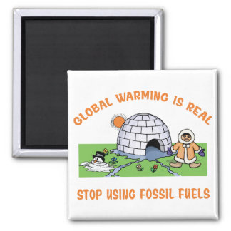 Stop Using Fossil Fuels Refrigerator Magnet