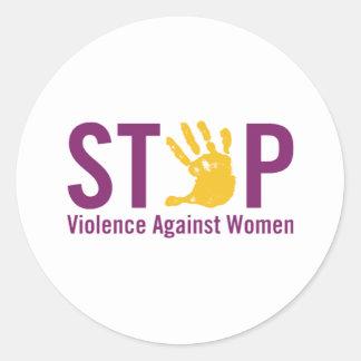 Stop Violence against Women Round Sticker