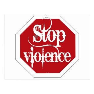Stop Violence Postcard
