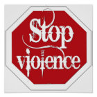 Stop Violence Poster