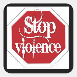 Stop Violence Sticker