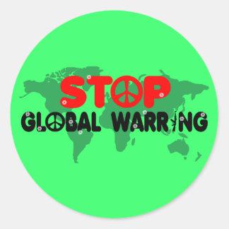 Stop War-Peace sign Round Sticker