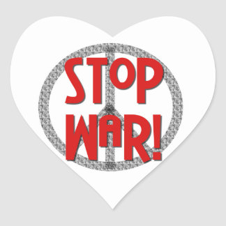 Stop War Peace Symbol T-shirts and Gifts Stickers