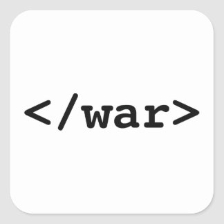 Stop War Square Sticker
