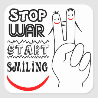 Stop War Start Peace Square Sticker