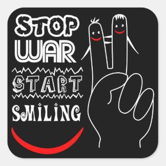 Stop War Start Smiling Stickers