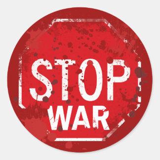 STOP WAR ROUND STICKERS
