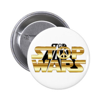 Stop Wars 6 Cm Round Badge