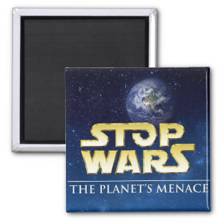 STOP WARS FRIDGE MAGNETS