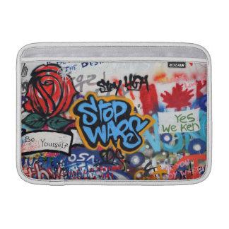 Stop Wars graffiti MacBook Air Sleeve
