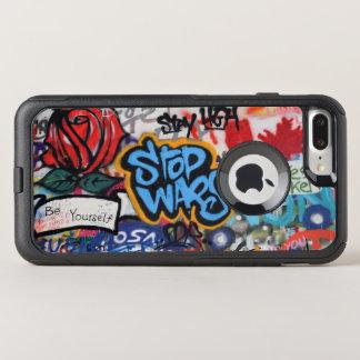 Stop Wars graffiti OtterBox Commuter iPhone 8 Plus/7 Plus Case