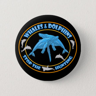 Stop Whale Hunting 6 Cm Round Badge