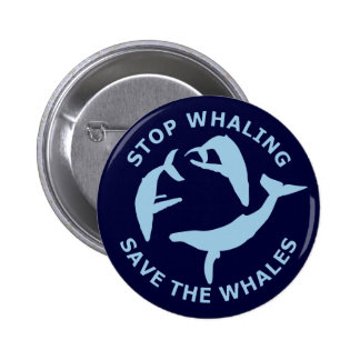 Stop Whaling, Save The Whales 6 Cm Round Badge