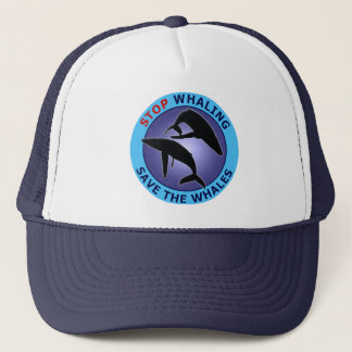 Stop Whaling Save The Whales Trucker Hat