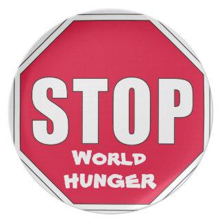 Stop! World Hunger Plate
