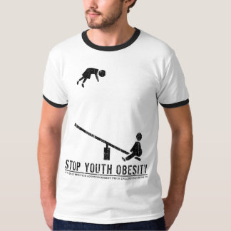 Stop Youth Obesity (vintage black) T-Shirt