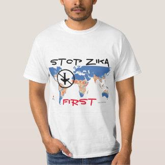 Stop Zika First Shirt by RoseWrites