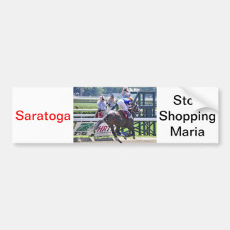 Stopchargingmaria victorious in her first race. bumper sticker