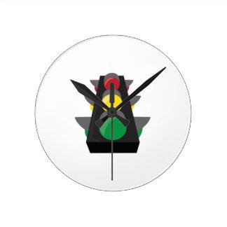 Stoplight_Base Round Wallclock