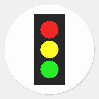 Stoplight Round Sticker