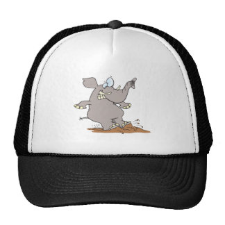 stopped in his tracks silly elephant cartoon cap