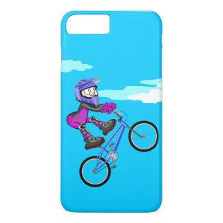 Stopped young BMX in the seat of its bicycle iPhone 8 Plus/7 Plus Case