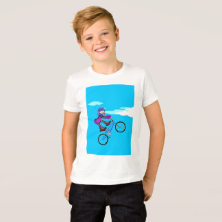 Stopped young BMX in the seat of its bicycle T-Shirt